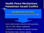 health peace mechanisms palestinian israeli conflict2