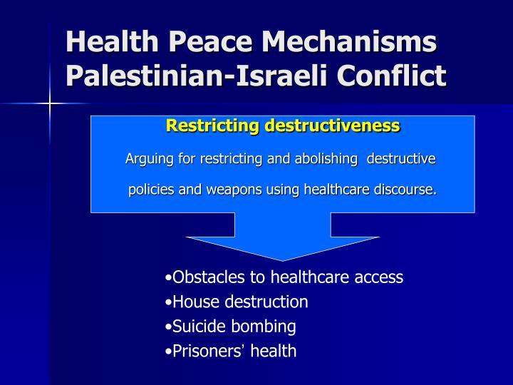 Health Peace Mechanisms
