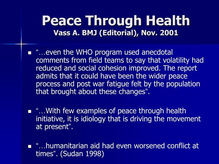Peace Through Health