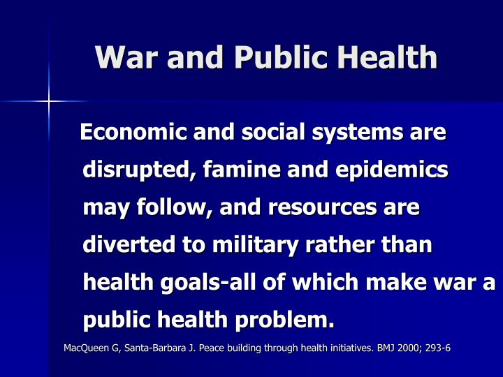 War and public health