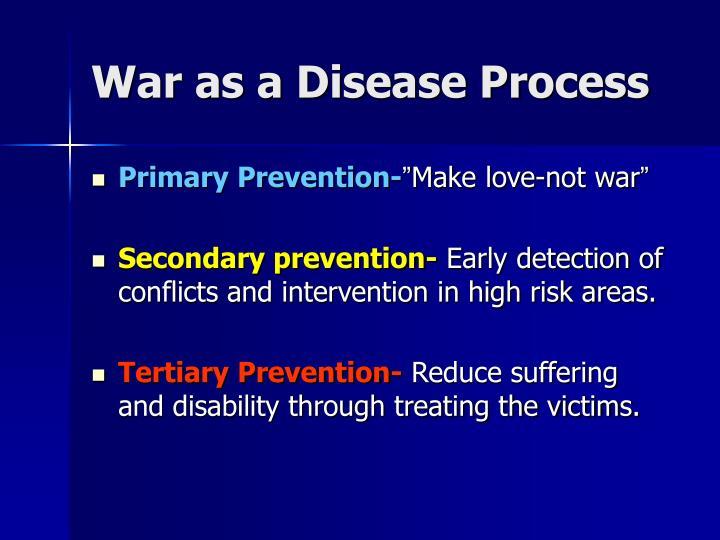 War as a Disease Process