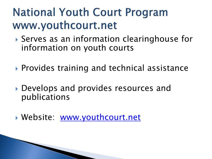 National Youth Court Program
