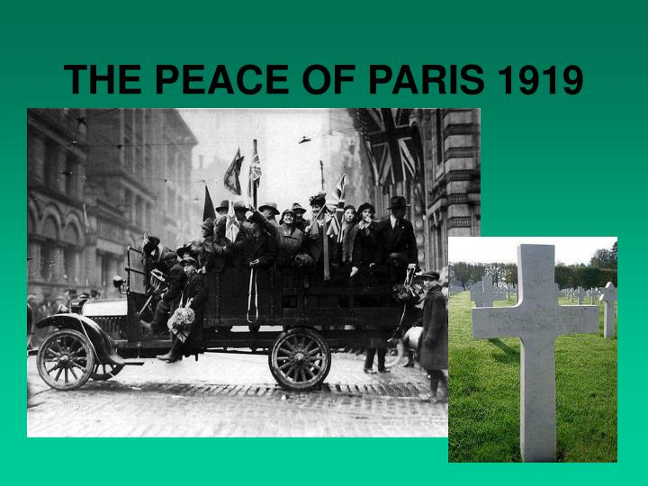 The peace of paris 1919
