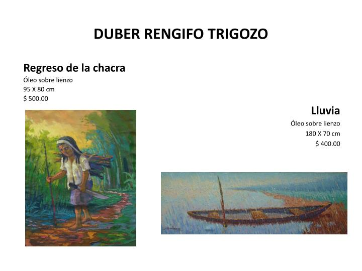 DUBER RENGIFO TRIGOZO