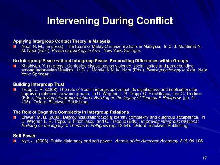 Intervening During Conflict