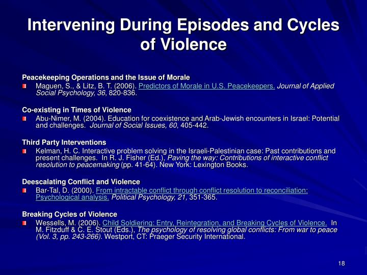 Intervening During Episodes and Cycles of Violence