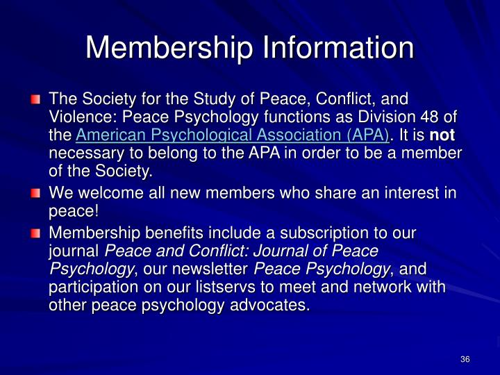 Membership Information