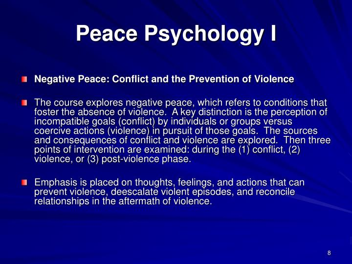 Peace Psychology I