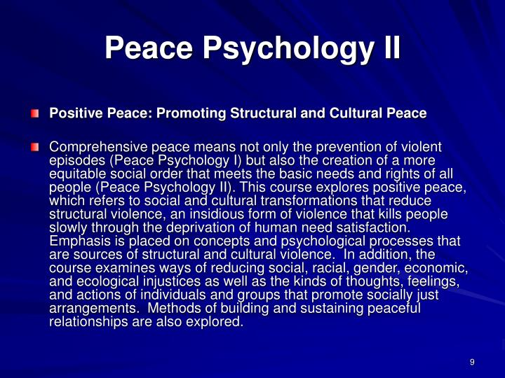 Peace Psychology II