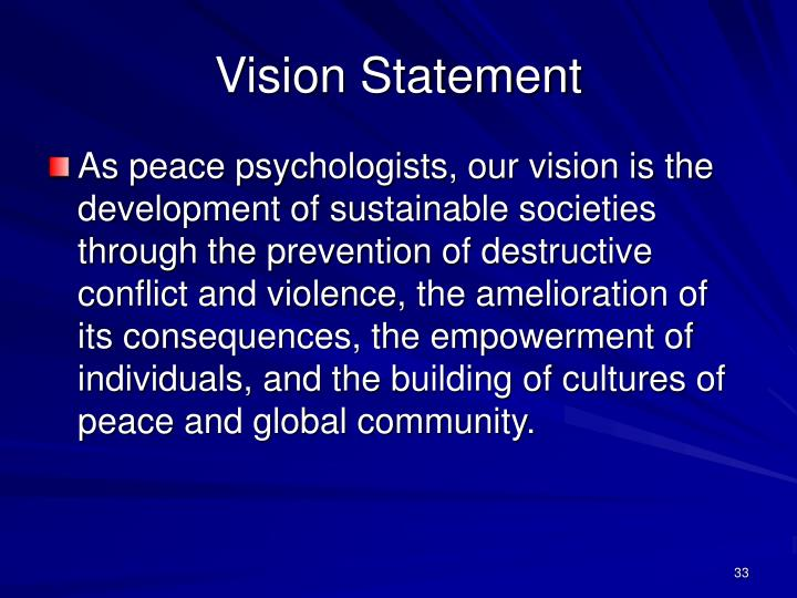 Vision Statement