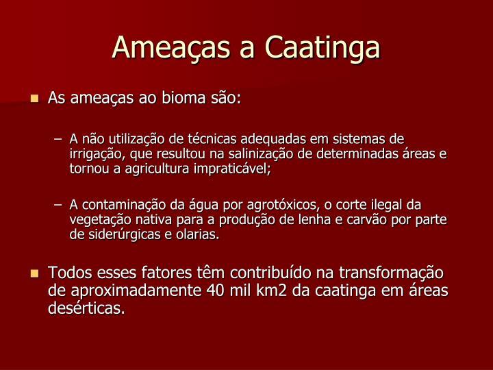 Ameaças a Caatinga