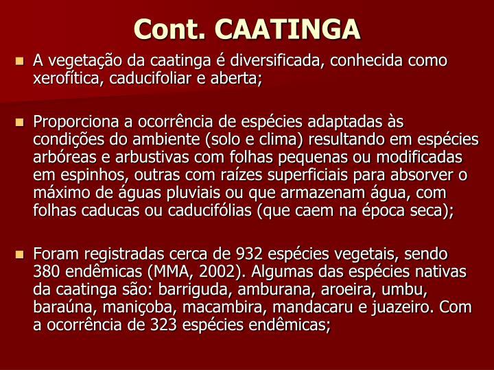 Cont. CAATINGA