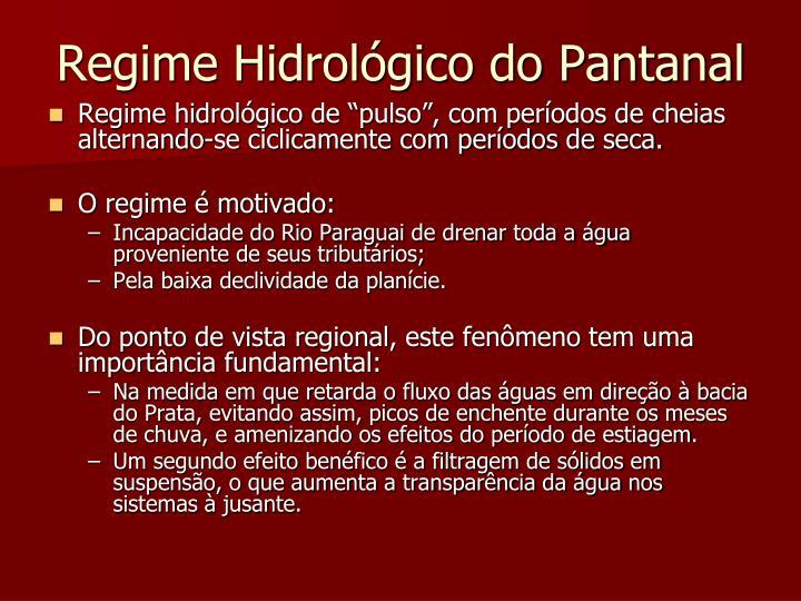 Regime Hidrológico do Pantanal