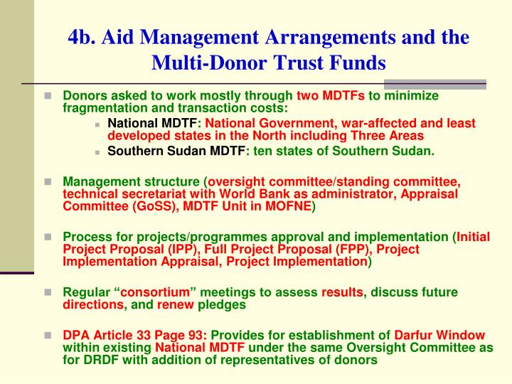 4b. Aid Management Arrangements and the Multi-Donor Trust Funds