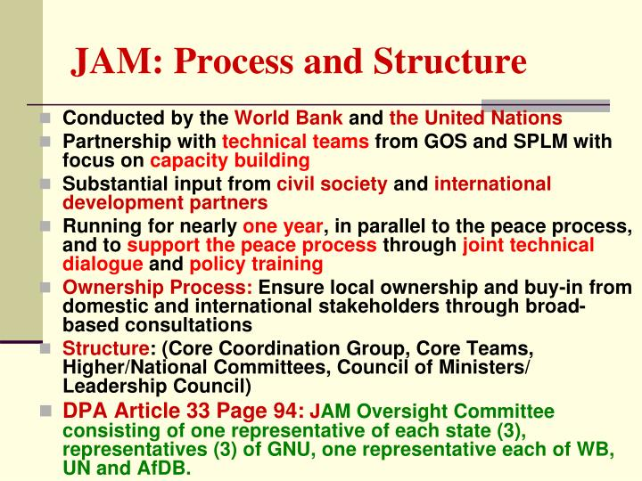 JAM: Process and Structure