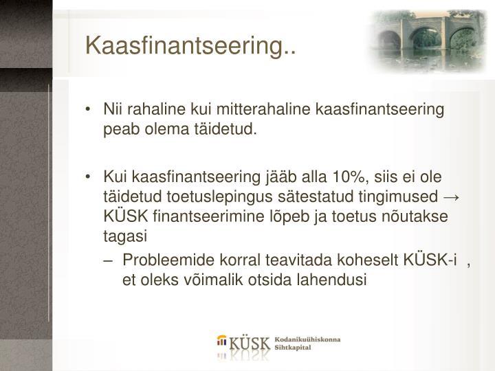 Kaasfinantseering..
