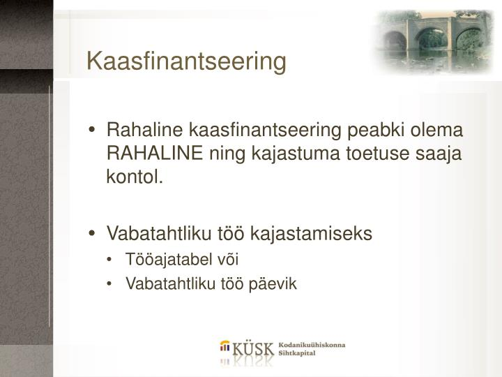 Kaasfinantseering
