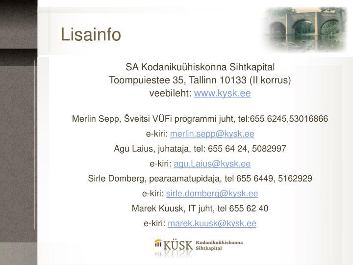 Lisainfo