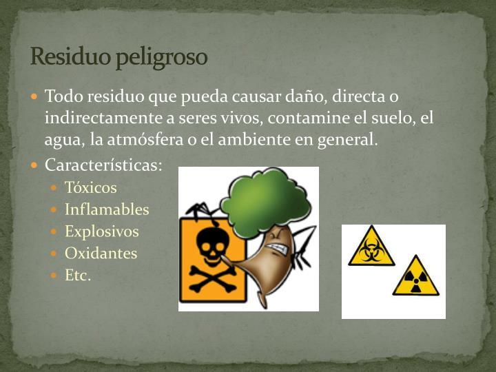 Residuo peligroso