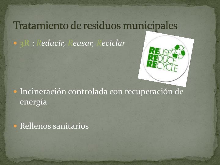 Tratamiento de residuos municipales