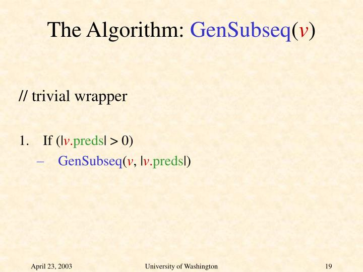 The Algorithm: