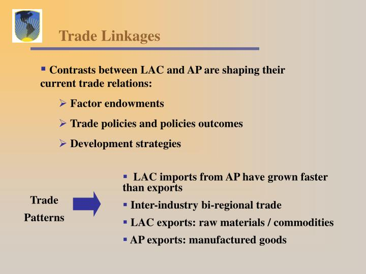 LAC imports from AP have grown faster than exports