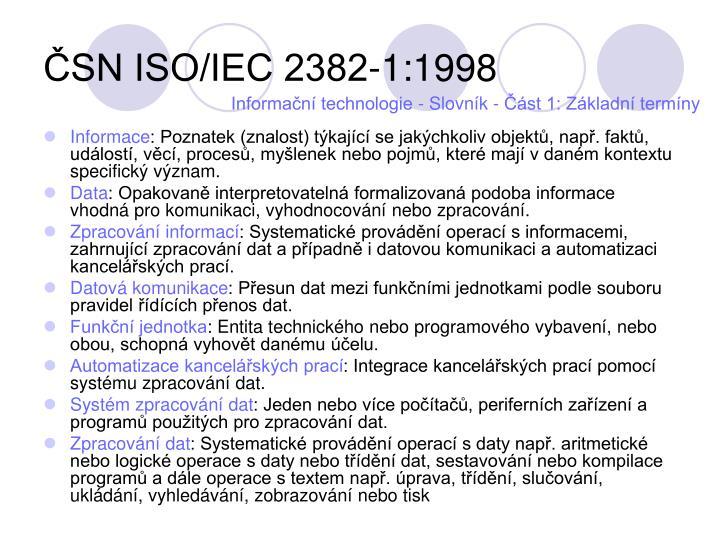 ČSN ISO/IEC 2382-1:1998