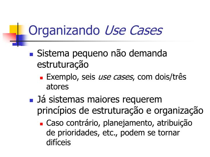 Organizando