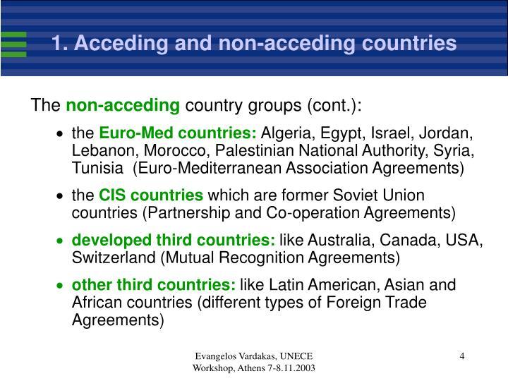 1. Acceding and non-acceding countries