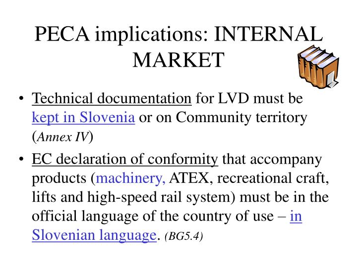 PECA implications: INTERNAL MARKET