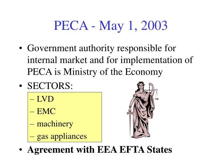 PECA - May 1, 2003