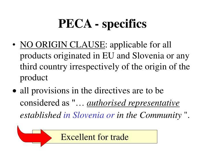 PECA - specifics