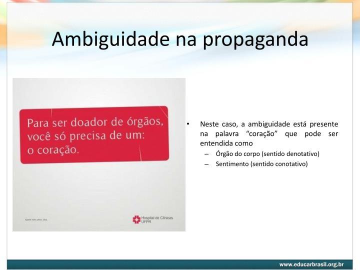 Ambiguidade na propaganda