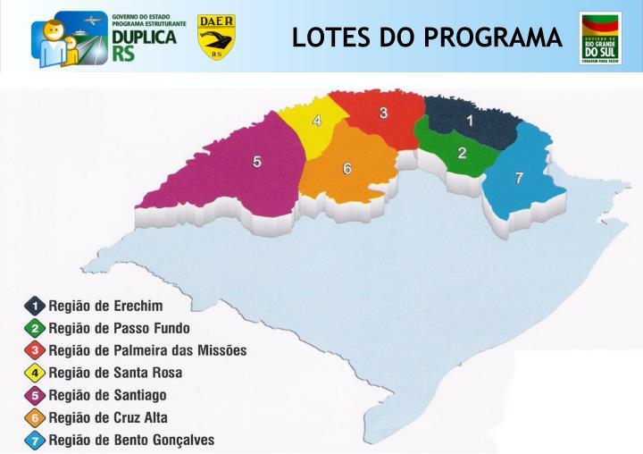 LOTES DO PROGRAMA