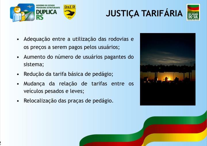 JUSTIÇA TARIFÁRIA