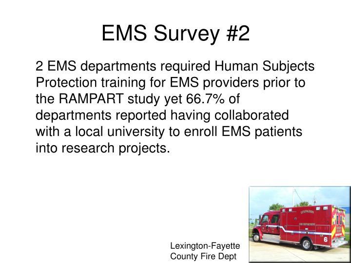 EMS Survey #2