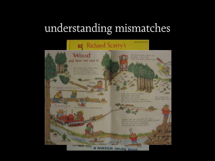 understanding mismatches