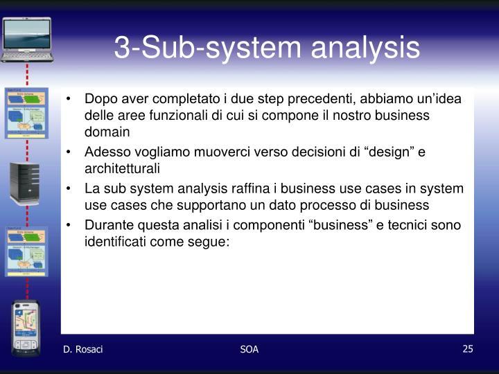 3-Sub-system analysis