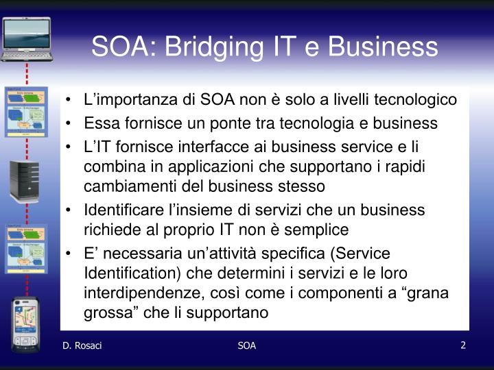 Soa bridging it e business