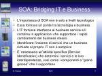 soa bridging it e business
