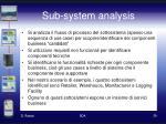 sub system analysis