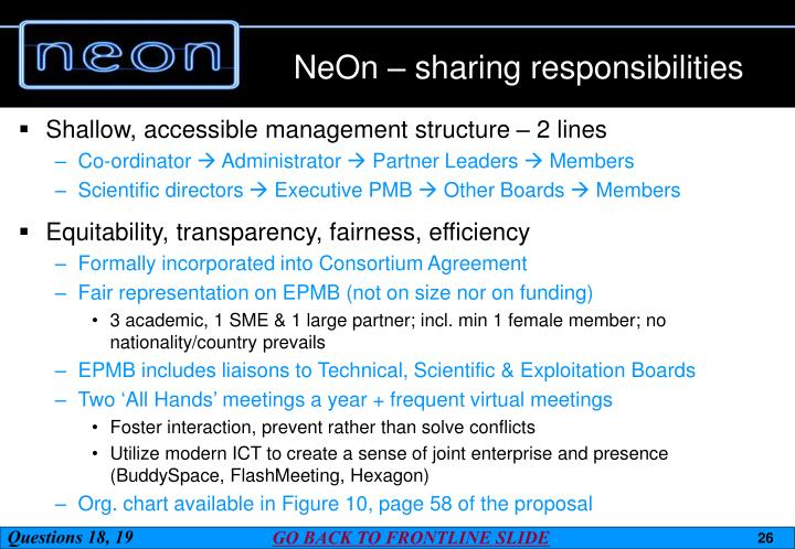 NeOn – sharing responsibilities