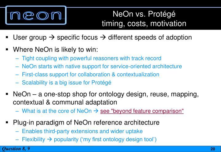 NeOn vs. Protégé