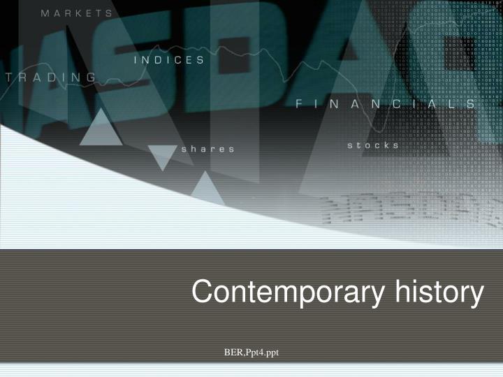 Contemporary history