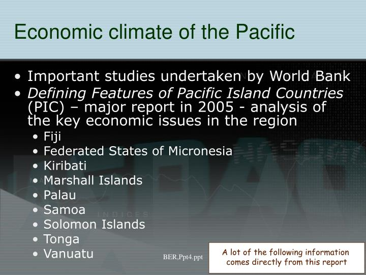 Economic climate of the Pacific
