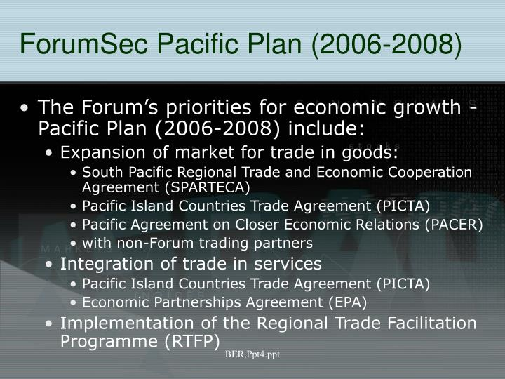 ForumSec Pacific Plan (2006-2008)