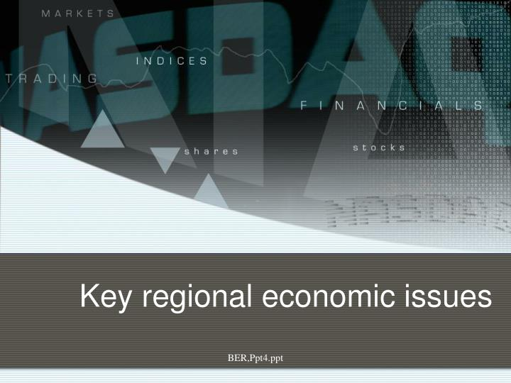 Key regional economic issues