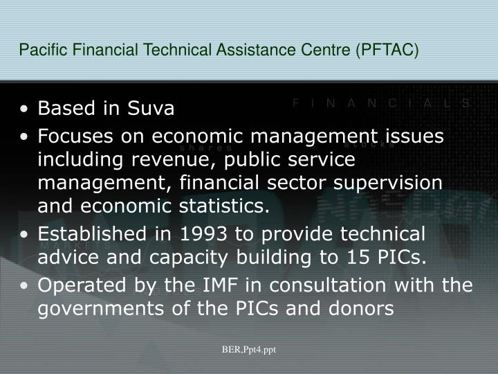 Pacific Financial Technical Assistance Centre (PFTAC)