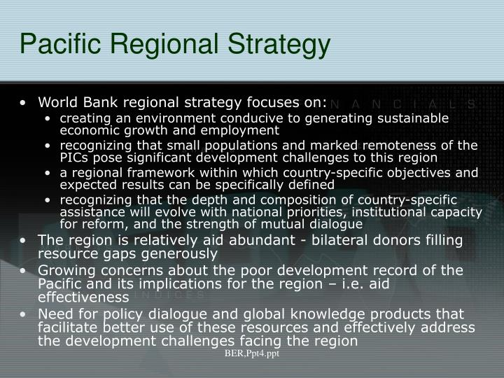 Pacific Regional Strategy