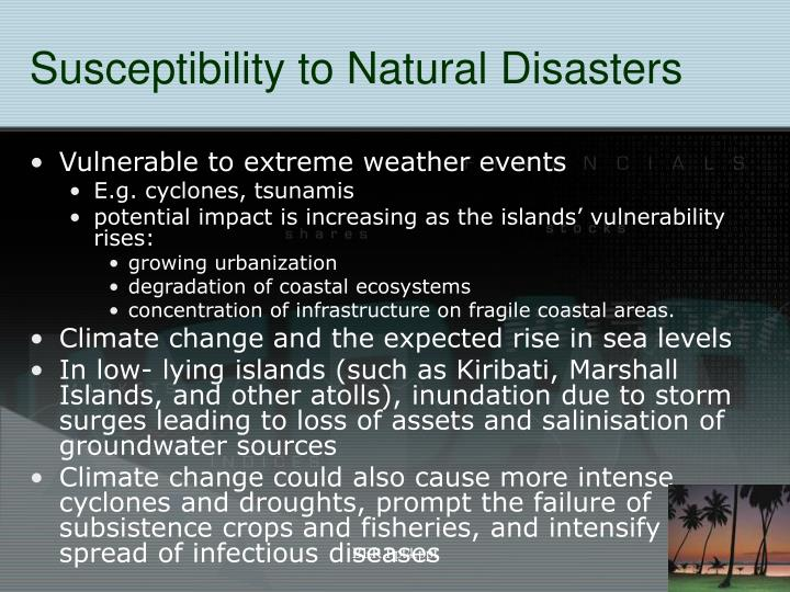Susceptibility to Natural Disasters